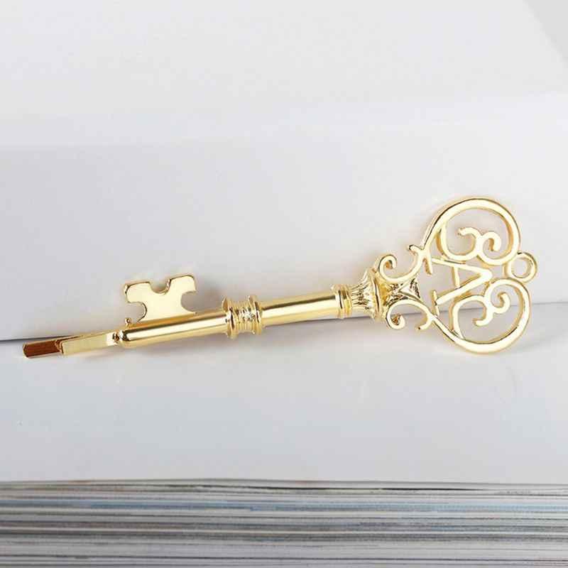 Minimalista de lujo llave de pelo de la forma de Clips de las mujeres de aleación de Metal pulido brillo Bobby Pines de cola de caballo titular joyería clásica