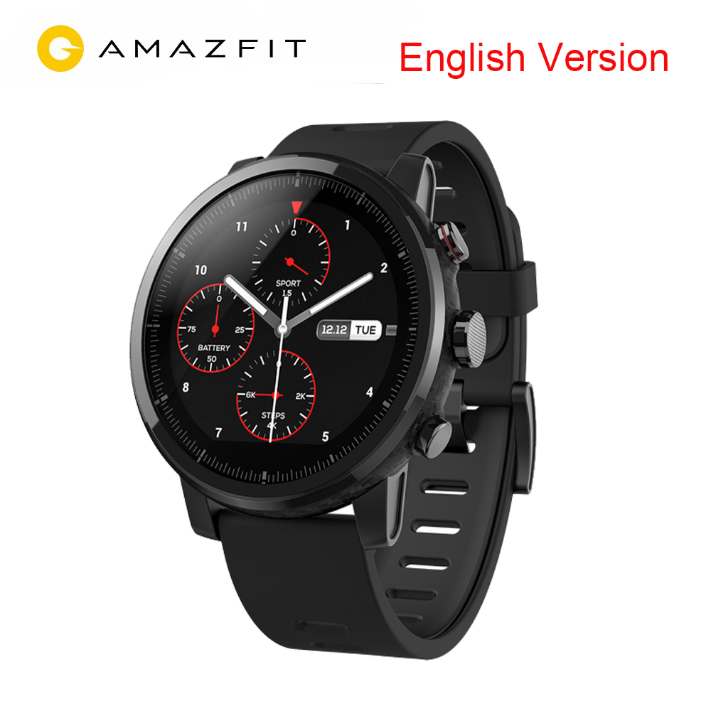 English Version Xiaomi Huami Amazfit Stratos 2 Smart Watch With GPS PPG Heart Rate Monitor 5ATM