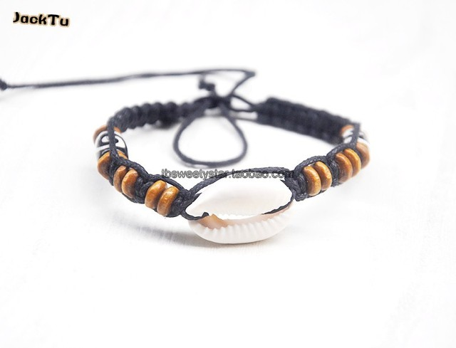 new shell beads mix wood stone bracelet diy