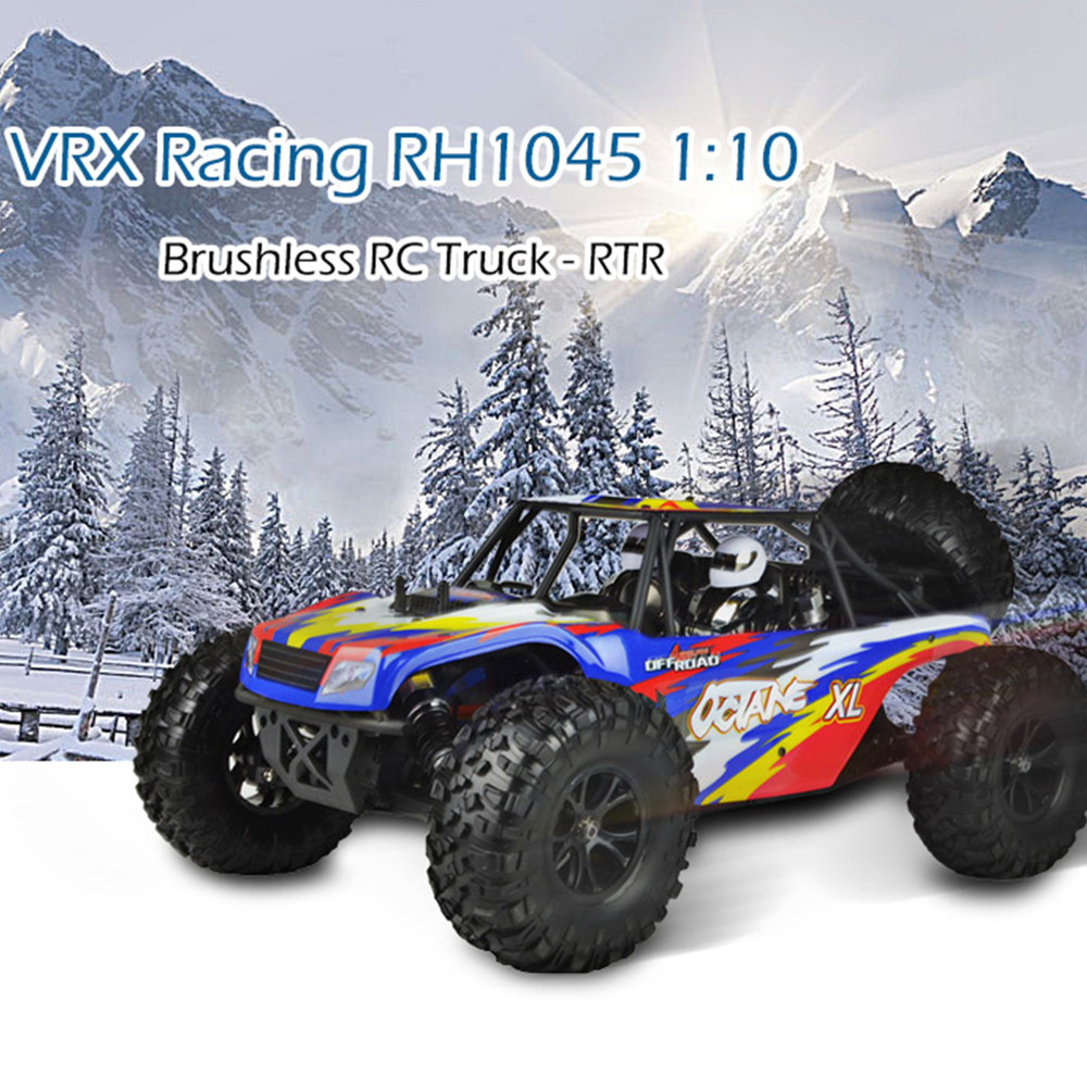 VRX Racing RH1045 1:10 Brushless Climbing Desert Truck Waterproof 4WD Off-Road High Speed Remote Control Monster Truck kids floral print oped back cami romper
