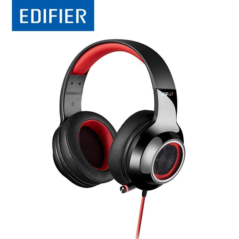 EDIFIER G4 Gaming auriculares con escalable Mic 7,1 Virtual sonido envolvente LED efecto de vibración Control de línea USB Gaming Headset