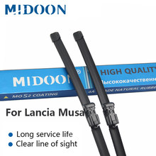 MIDOON Wiper Blades for Lancia Musa Fit Push Button Arms 2008 2009 2010 2011 2012 2013(China)