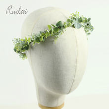 Зеленая Цветочная свадебная корона повязка на голову для невесты