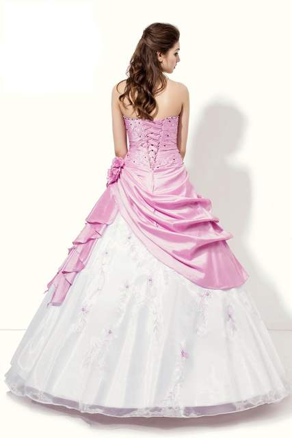 9d4647bf5ca Online Shop In Stock Pink White Quinceanera Dresses New Taffeta And Tulle  Quinceanera Dress Handmade Flowers And Embroidery Blushing Selling
