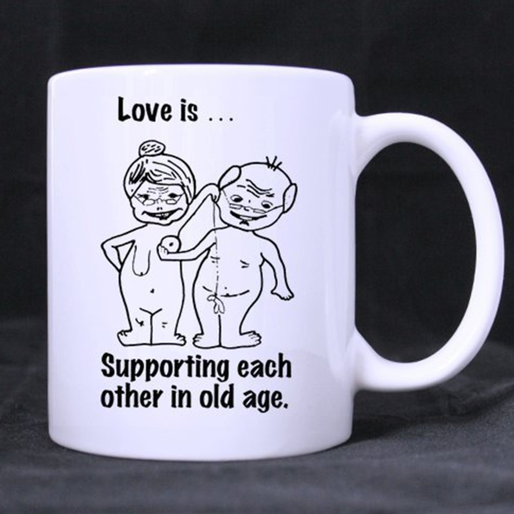 Hot Sell Couple Holiday Gift Coffee Mugs Ceramic Mug Milk Cup Novelty Christmas Gift Mugs Beer Logo Cups 11 Oz Free Shipping In Mugs From Home Garden On