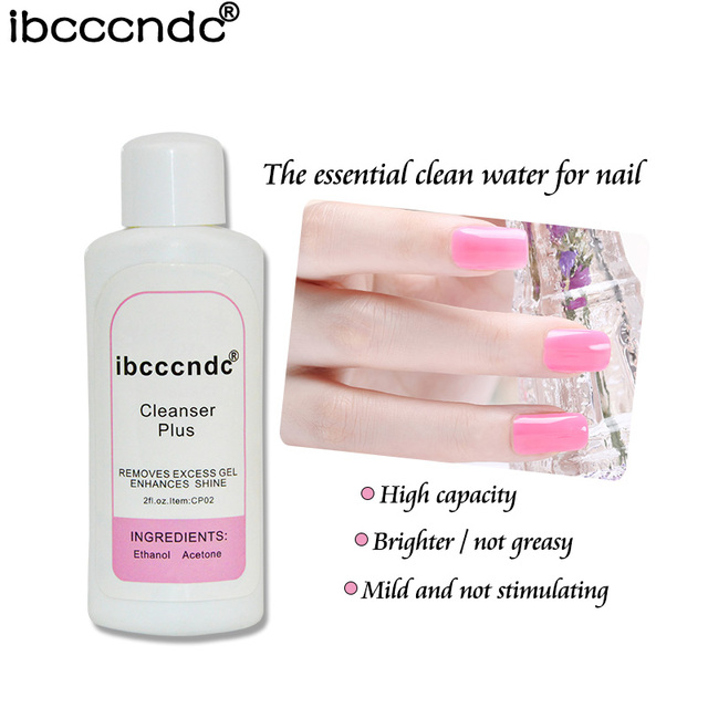 60ml Cleanser Plus Liquid Surface Sticky Layer Residue UV Gel Polish Excess Remover Nail Art Acrylic Clean Degreaser for Nails