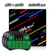 лучшая цена RUIJIE H96 MAX Plus Tv Box Android 9.0 Rockchip RK3328 Quad Core 4GB RAM 32GB ROM Smart Tv 2.4G Wifi H.265 4K H96 MAX +