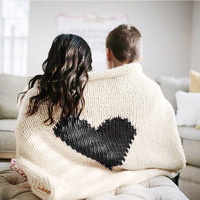 100*78 CM Baby Blanket Soft Warm Heart shaped Knitted Cotton Polyester Blanket WrapTowel Baby Photography Props Bedding Blanket