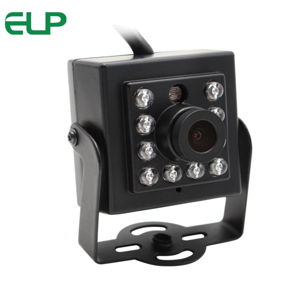 ELP 960P HD Mini IR Infrared Night Vision Low Light USB Webcam Camera for Android,Linux,Windows elp 1 3 mp 960p hd cmos ar0130 board low light mini 3 6mm lens 5v usb security camera for android linux windows support otg