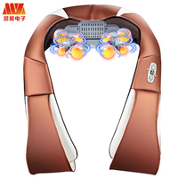 MZ HOT Body Massage Electric Vibration Shiatsu Back Neck Shoulder Massager Infrared Heated Car/Home Kneading Massage relaxation
