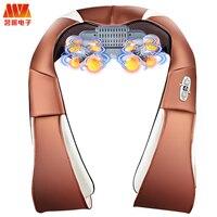 MZ HOT Body Massage Electric Vibration Shiatsu Back Neck Shoulder Massager Infrared Heated Car/Home Kneading Massage relaxation