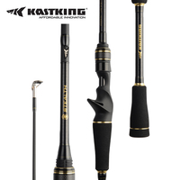 KastKing Stealth Portable Carbon Bait Casting Rod FUJI Guide Ring Spinning Fishing Rod