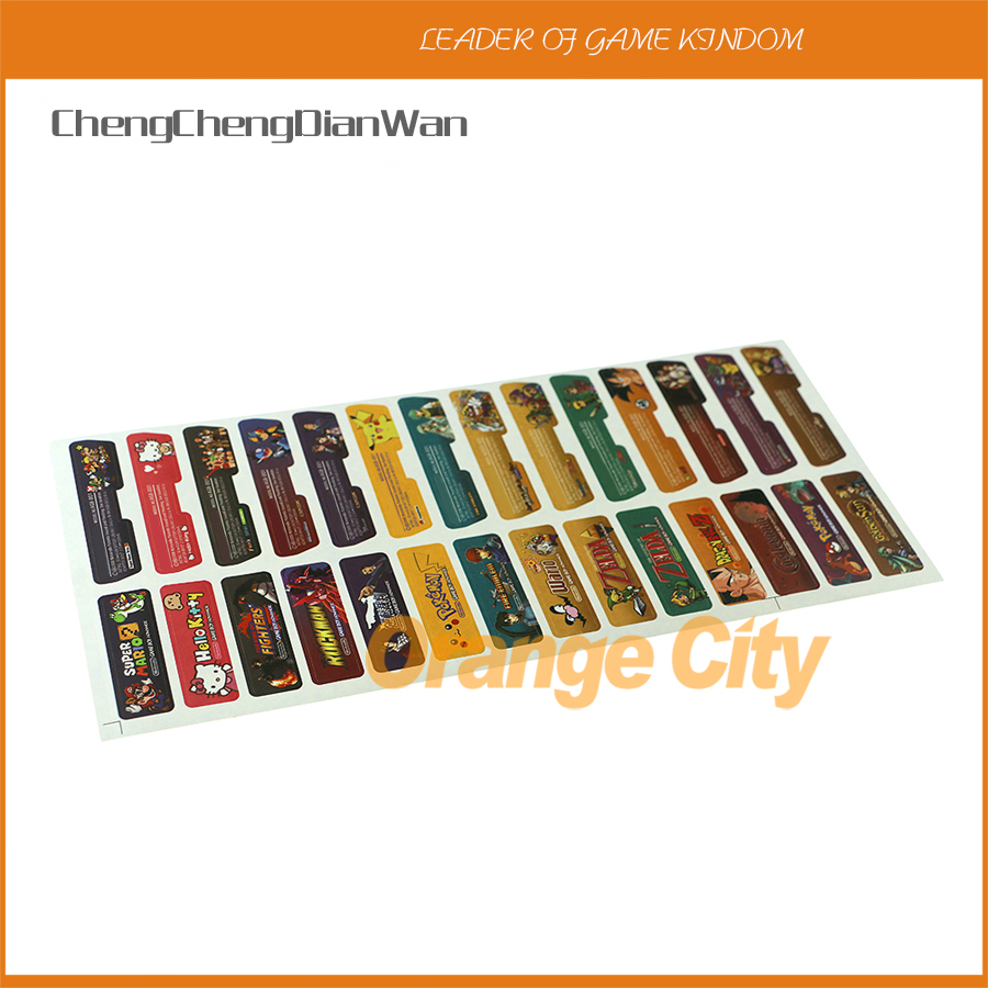ChengChengDianWan 280pcs=140sets/lot Game Theme Sticker Lables Set Game Shell Seals Label Stick for Gameboy Advance GBA Console