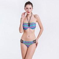 New Sexy Halter Crop Top High Neck Brazilian Bikini Set Push Up Swimwear Women Swimsuit Beach Bathing Suit