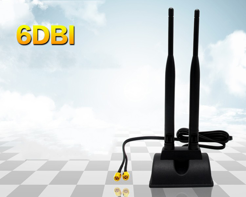 Dual Band 2.4G/5G 6dBi RP-SMA Omni WiFi Dirtect Antenna for Wireless Card Router