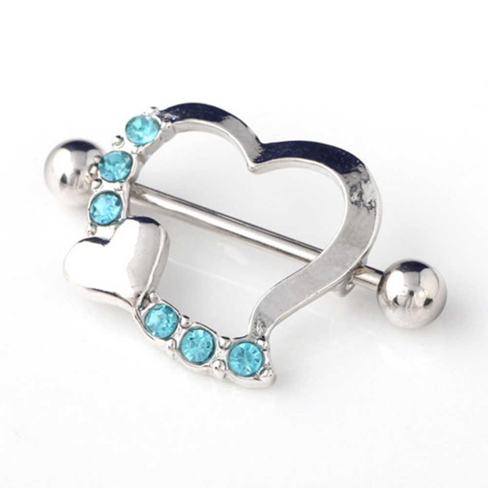 Liefde Hart Tepel Ringen Sexy Vrouw Tepel Ring Sieraden Piercing Clip Op Tepel Ringen Mode Tepel Shield Rings Halters