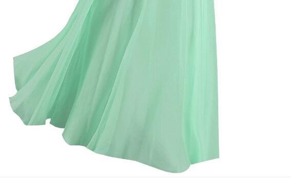 [Распродажа] шифоновое вечернее платье Длинное Элегантное длинное вечернее платье с блестками и бисером на шнуровке сзади милое - Цвет: Light Green