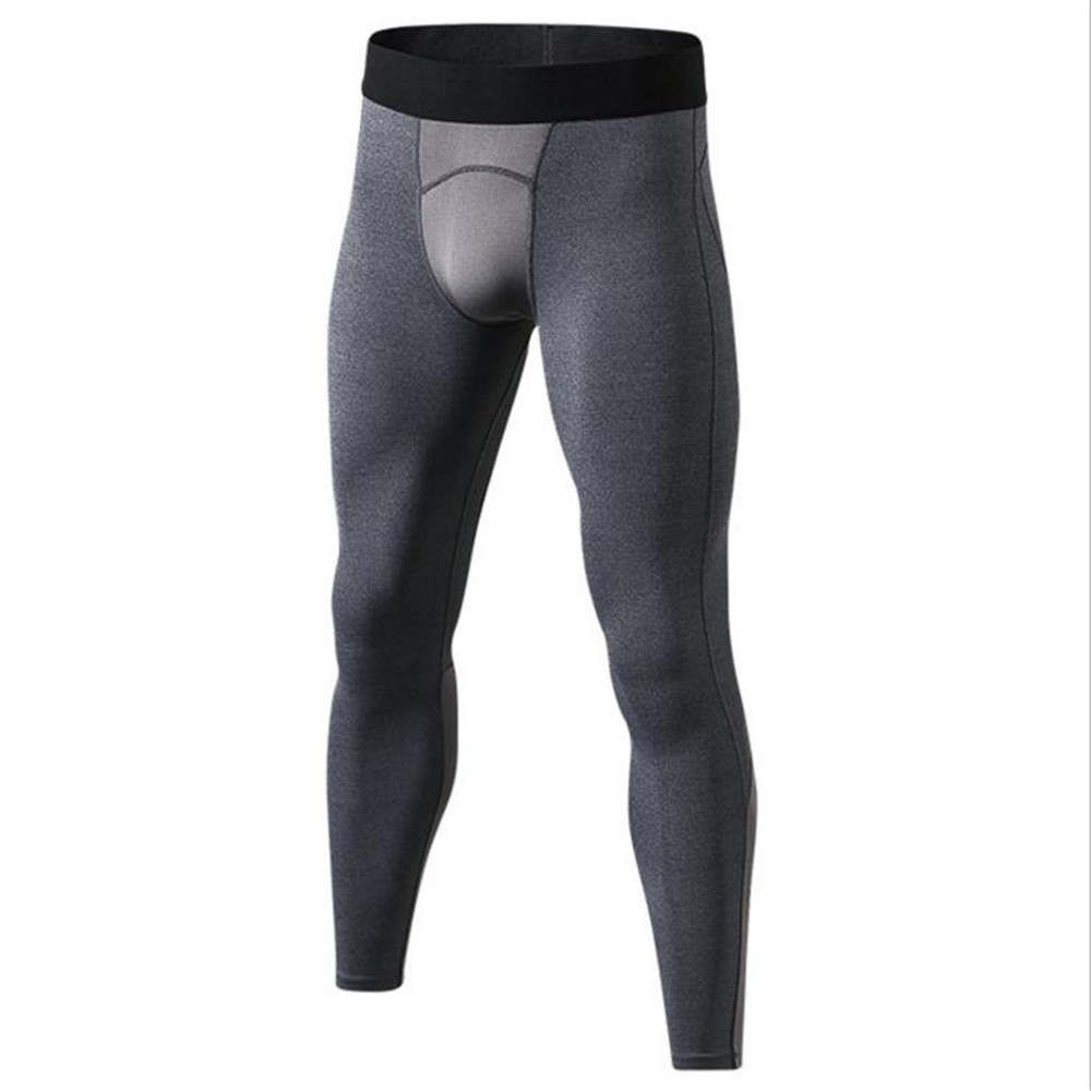 2018 Men Sport Pants Tights Trainning Exercise Gym Trousers Mesh Patchwork Quick Dry Flexible Pants Gym Men Sport Fitness Tight
