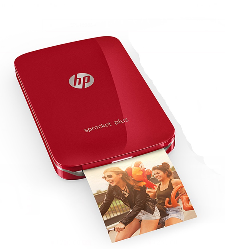 Sprocket Plus Home Color Photo Printer Mini Portable Handheld Photo Printer Inkless Printing Sprocket Plus Bluetooth Connection