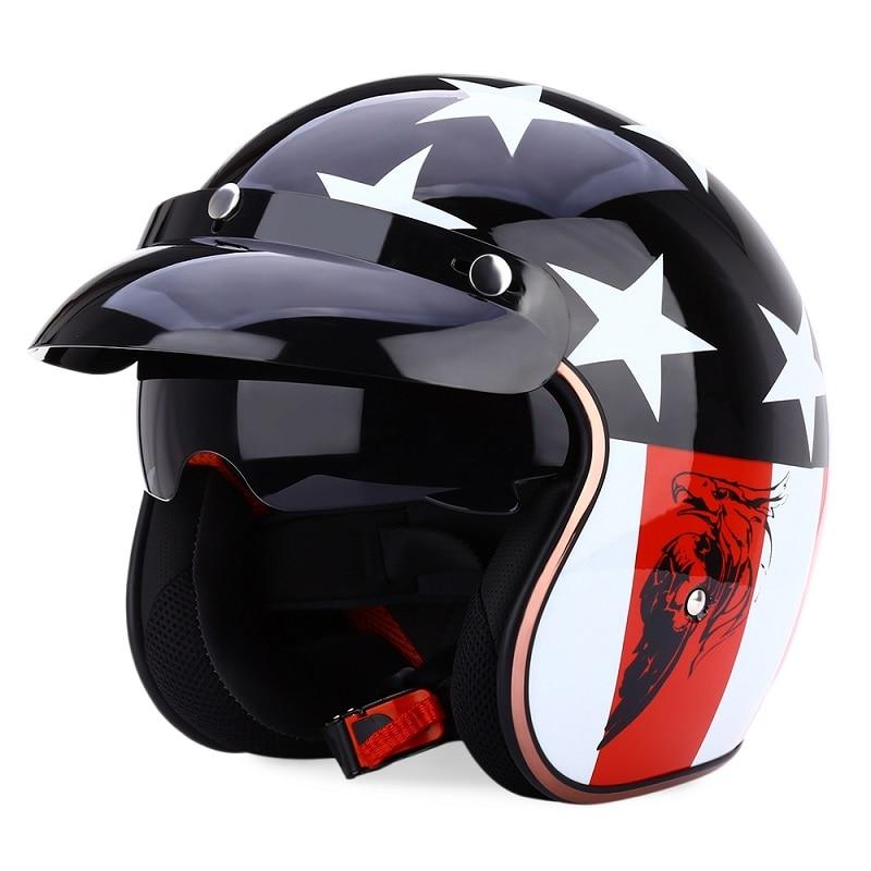 JIEKAI JK 510 Универсальный мотоциклетный шлем ретро с открытым лицом холодная защита безопасный головной убор для езды на скутере с козырьком