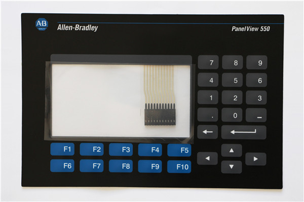 ALLEN BRADLEY 2711-K5A PANELVIEW 550 KEYPAD AND TOUCH GLASS REPLACEMENT 2711-K5A1 OVERLAY, HAVE IN STOCK 2711 tc4 2711tc4 series membrane keypad for allen bradley panelview 1200 micro series fast shipping