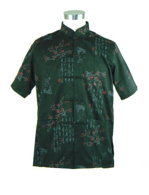 Nova chegada homens chineses de algodão Kung Fu Camisa Hombre Camisa verão de manga curta com tamanho de bolso sml XL XXL XXXL M0022