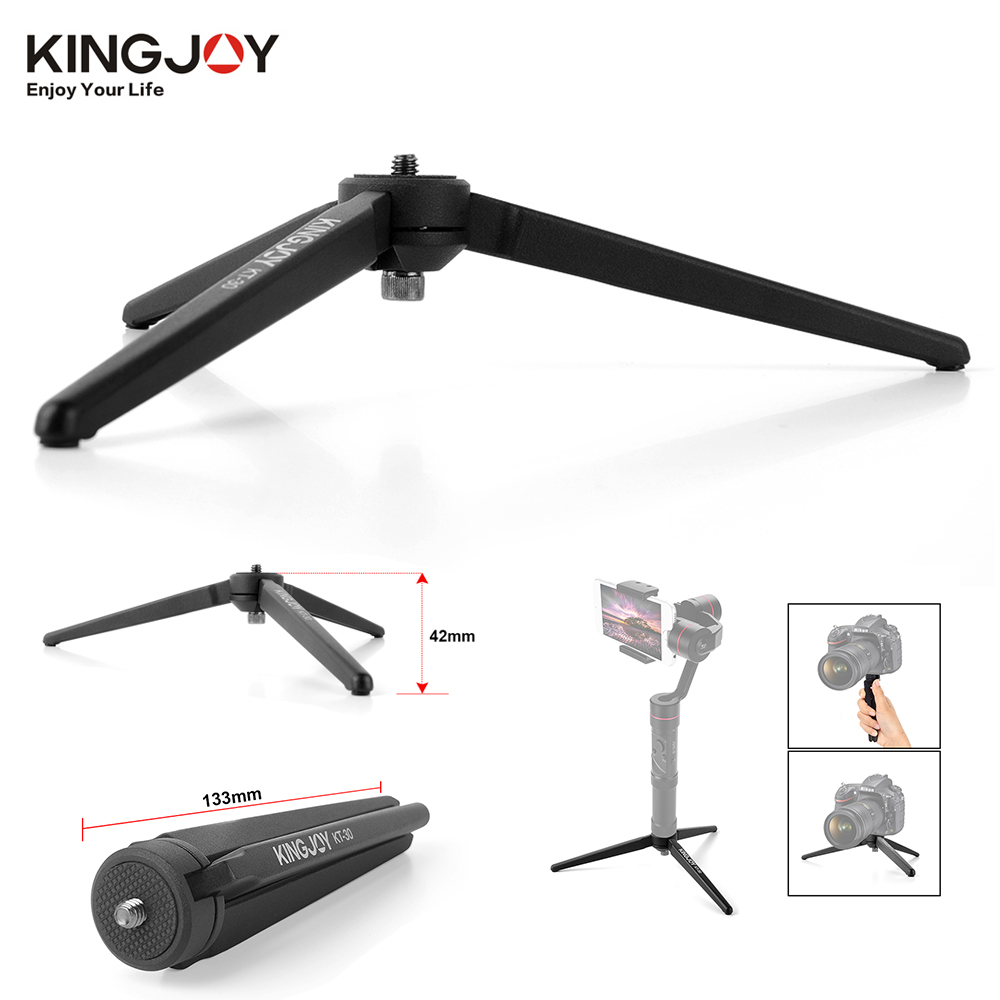 KINGJOY KT-30 Portative En Aluminium Mini Trépied De Table Jambe pour APPAREIL PHOTO Numérique DSLR Zhiyun Smooth Q 3 Grue-M crane2 Moza D'air