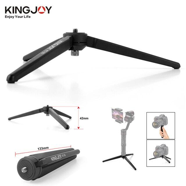 KINGJOY KT 30 الألومنيوم المحمولة مصغرة منضدية ترايبود الساق ل DSLR كاميرا رقمية Zhiyun السلس Q 3 رافعة رافعة M Crane2 Moza الهواء
