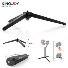 Kingjoy KT 30 dslr 디지털 카메라 zhiyun 부드러운 q 3 크레인 크레인 m crane2 moza 공기에 대 한 알루미늄 휴대용 미니 탁상 삼각대 다리