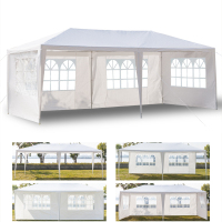 3 x 6m Four Sides Waterproof Tent with Spiral Tubes Party Wedding Tent Outdoor Gazebo Heavy Duty Pavilion Event US Domestic Ship