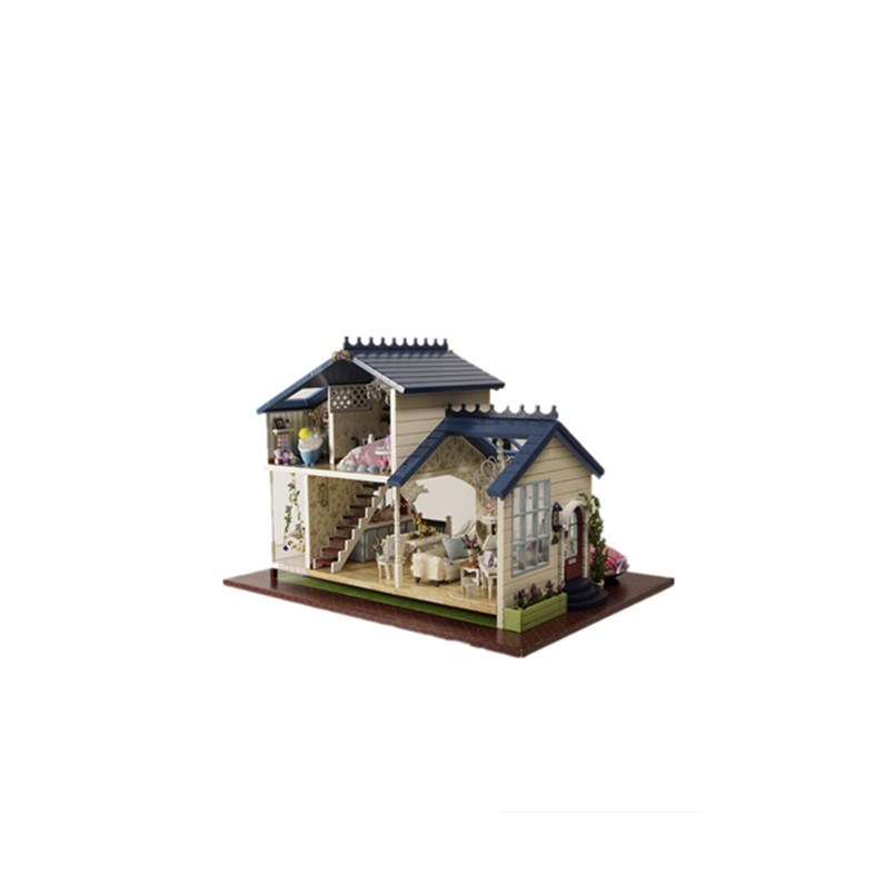 DIY Wooden Doll House Model Building Kit Assembling Toys For Kids,New Style  PROVENCE Miniature Dollhouse Free Shipping