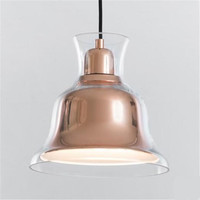 Пост современный дизайнер двойной Слои Стекло колокол E27 подвесной светильник для Обеденная Гостиная ресторан бар 80 265 В 22 см 1520
