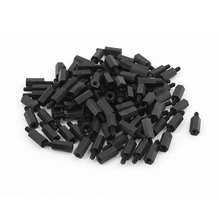 100pcs M3 12mm+6mm Nylon Spacer Hex Stand-Off Pillar for Motherboard