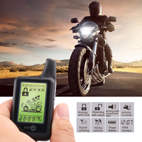 2 Way LCD Motorcycle Alarm System Motorbike Anti Theft Security Theft Protection 3500M Monitoring Range Remote