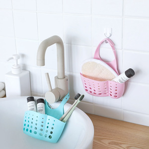Image 1 - Portable Kitchen Sink Dish Soap Organizer Hanging Drain Bathroom Sponge Organizer Wall Shelf Soap Hooks Sucker Sponge Holders