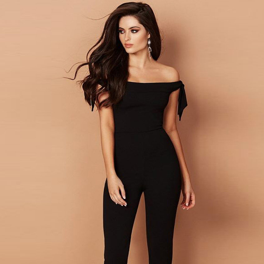 KANCOOLD bodysuit Long Sleeve jumpsuit Causal Solid Off The Shoulder Clubwear Sleeveless Playsuit drop shipping feb24