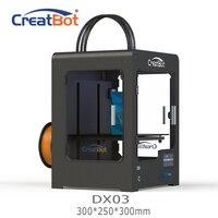 DX03 300*250*300mm CreatBot 3d printer Triple Extruder Cheap 3D Printers Metal Frame