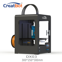 DX03 300*250*300mm CreatBot 3d printer Triple Extruder Cheap 3D Printers Metal Frame