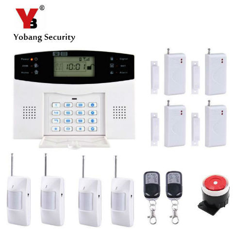 YobangSecurity Home Security 99 Wireless 7 Wired GSM SMS Alarm System Spanish Russian French Cezch Voice Prompt Alarm Kit