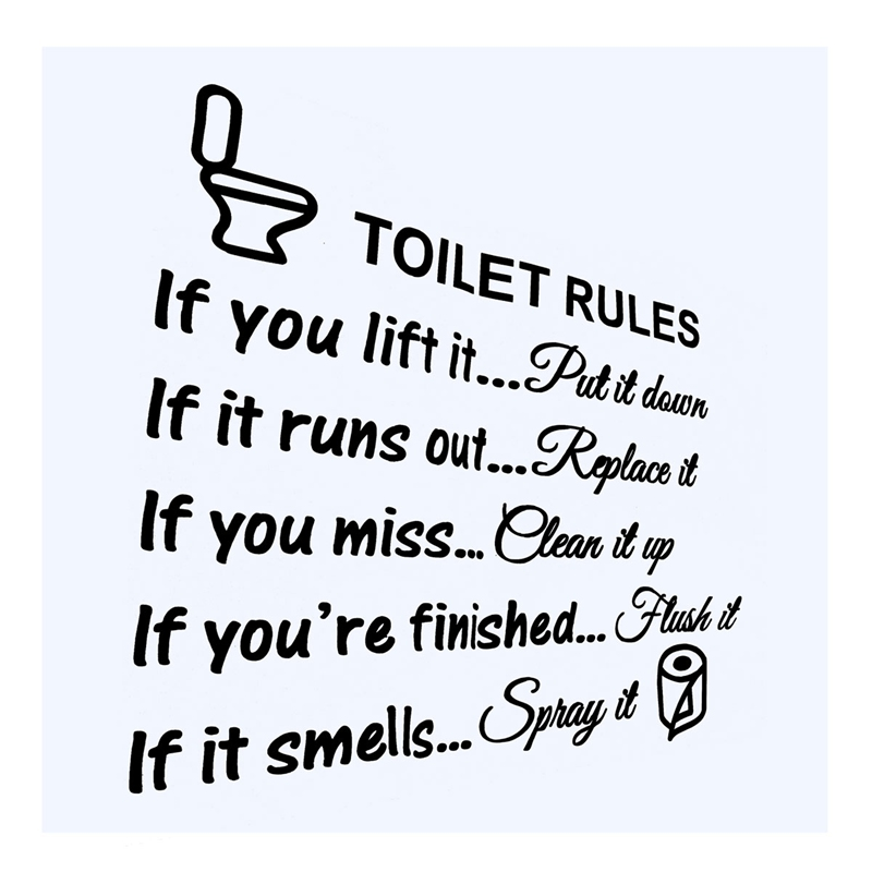 Bathroom Rules aliexpress : buy top selling diy removable toilet rules wall