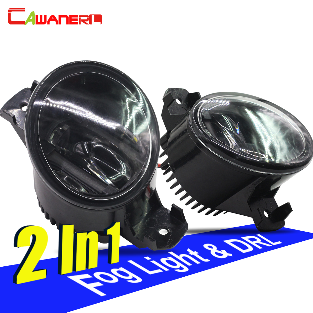 Cawanerl 2 Pieces Car Styling LED Fog Light DRL Daytime Running Lamp For Renault Clio Laguna Koleos Wind Master Espace Vel Satis cawanerl 2 x car led daytime running light drl fog lamp 12v dc car styling high quality for ford ranger 2012 2015
