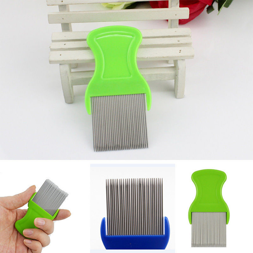 Hair Lice Comb Brushes Terminator Fine Egg Dust Nit Free Removal Stainless Steel Comb Health Brush Hair Shedding Supplies