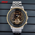 2016 Fashion Luxury Brand Men Mechanical Wacthes Tourbillon Gold case Skeleton Big dial Automatic Mechanical Watch With Box Gift