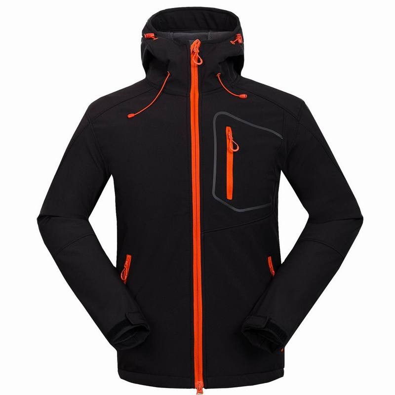 Man Softshell Jacket Outdoor Sport Mountain Camping Riding Hiking Jacket Windproof Waterproof Coat Hard-Wearing Clothing