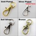 (15Pcs/lot )Pick 4 Colors Lobster Swivel Clasps for Key Ring 37x16mm(w02920)Free Shipping!