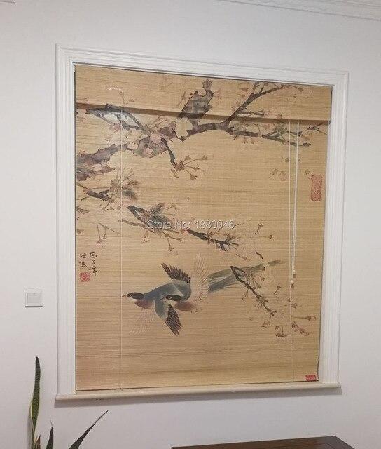 Wash bamboo curtain Environmental Elegant Roman Style Suncreen Bamboo Roller Blind
