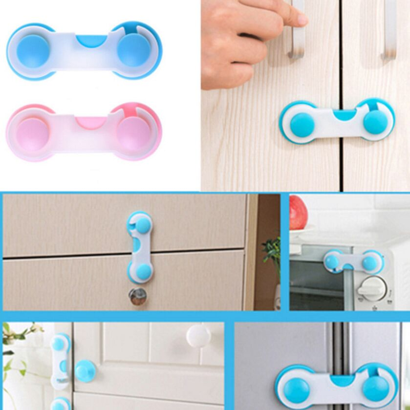 Cabinet Lock Fridge Door Locks Candy Color Plastic Locks Prop Safe C8 Baby Safety & Health