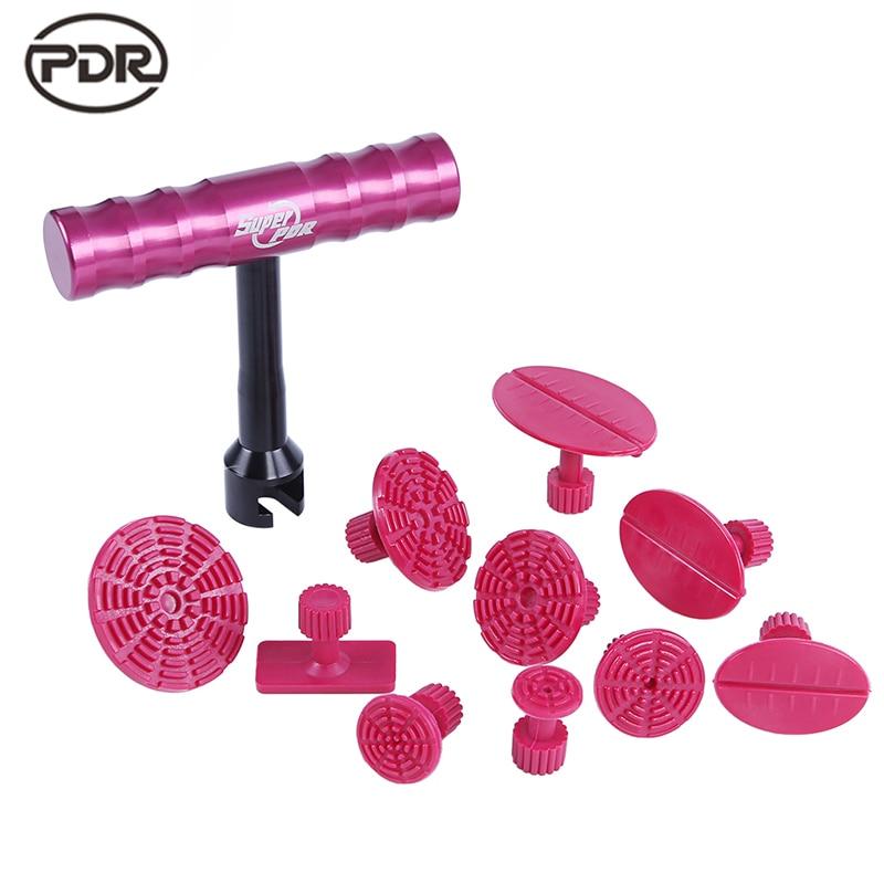 کیت ابزارهای PDR ابزارهای ترمیم دندانی بدون رنگ ، دندانه دار کردن مینی لیفتر دنده کشنده کوچک لیوان قرمز رنگی