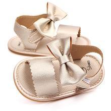 Sandals Shoes Baby-Girls Anti-Slip Cute Newborn PU First-Walker Big-Bow
