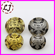 Free shipping 10pcs/lot combined zinc alloy metal buttons two colors round button clothing pants sewing accessories scrapbook